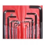10pce hex key wrench set 1.5, 2.0, 2.5, 3.0, 4.0, 5.0, 6.0, 7.0, 8.0, 10mm(61-RH110)