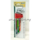 9 pcs Hex Key Set Anti-Slip Color Grip E-MARK T85646