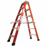STEP BY STEP DFG08 FIBERGLASS DOUBLE SIDED A-SHAPE LADDER 8 STEP 8'