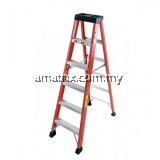 STEP BY STEP FG07 FIBERGLASS SINGLE SIDED A-SHAPE LADDER 7 STEP 7'