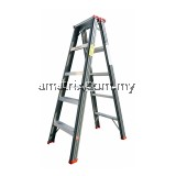 STEP BY STEP DMD07 MEDIUM DUTY DOUBLE SIDED A-SHAPE LADDER 7 STEP 5' 7""