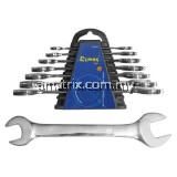8 PCS DOUBLE OPEN END WRENCH SET(6 x 7,8 x 9,10 x 11,12 x 13,14 x 15,16 x17,18 x 19,20 x 22mm