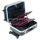 Heavy-Duty ABS Case With Wheels And Telescoping Handle