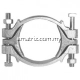 "Double Bolt Clamp with Saddles 4.1/2"" 114-128MM(CDB-550)"