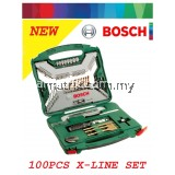 BOSCH 2607019330 100-Piece X-Line Drill & Screwdriver Bit Set + Accessories