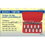 "KINGTOYO  19 PIECE 1/2"""" SOCKET & STAR WRENCH SET"