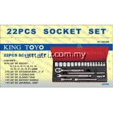 "KINGTOYO KTBS-22  22 PIECE 3/8""  BOX SOCKET SET"