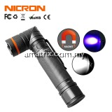 NICRON B75 Magnetic Tail 90° Adjustable Head USB LED Flashlight & Fluorescence Detection Pen