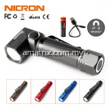 NICRON B74 MAGNECTIC FLASHLIGHT TORCHLIGHT IP65 HEAVY DUTY BATTERY RECHARGABLE