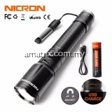 Nicron N6F 350LM Focus Magnet USB Rechargeable Flashlight 5W