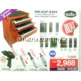 MR.MARK MK-EQP-0304 117 PCS TOOLS SET WITH 3 DRAWER CABINET