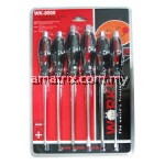 WK-8807 WORKER 6PCS GO-THROUGH SCREWDRIVER SET