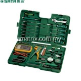 Sata 09535 PROFESSIONAL ELECTRONIC TOOL SET, 53pc