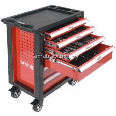 YATO YT-55300 6-DRAWERS ROLLER CABINET WITH TOOLS 177PCS