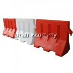 PLASTIC SAFETY ROAD BARRIER 1M X 0.45M X 0.8M ( L X W X H)