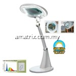 PRO'SKIT MA-1209LI LED TABLE CLAMP MAGNIFIER LAMP 220V