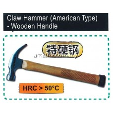 AIWO Claw Hammer (American Type)- Wooden  Handle