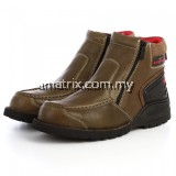 BLACK HAMMER BH5106 5000 Series Men Safety Shoes Mid Cut Mocassins Zip Up