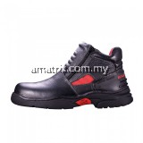BLACK HAMMER BH2993 Men Series Mid Cut With Double Zip Safety Shoes