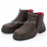 BLACK HAMMER BH3886 Ladies Mid Cut With Double Zip Safety Shoe