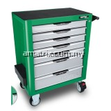 TOPTUL GCAJ275G 6 Drawer Tools W/7-Drawer Tool Trolley - 275PCS Mechanical Tool Set (PRO-PLUS SERIES) GREEN - Matte Finished