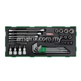 TOPTUL GTB4006 40PCS - Star & Tamperproof Socket Wrench Set