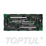 TOPTUL GTB0817 8PCS - L-TYPE TWO WAY HEX KEY WRENCH SET
