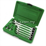 TOPTUL GAAI1002 10pcs Ratchet Combination Wrench Set