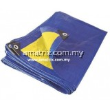 READY MADE Tarpaulin Sheet Blue/Yellow Canvas Sheet