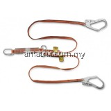 WL-141068-LOH WEBBING TWIN LANYARD WITH E/ABSORBER