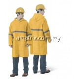 ST-3580-Y HEAVY DUTY VISIBILITY RAINCOAT WITH HIGH REFLECTIVE STRIP