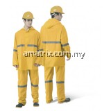 ST-3620-Y HEAVY DUTY VISIBILITY RAINSUIT WITH HIGH REFLECTIVE STRIP