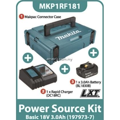 Makita MKP1RF181 Battery Kit 18V 3.0Ah x 1pc, Fast Charger x 1pc