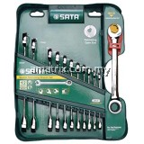 SATA 09066 12PCS DOUBLE RATCHETING COMBINATION WRENCH SET