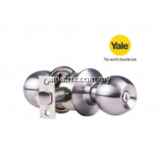 YALE VCA4147/US32D STAINLESS STEEL CYLINDRICAL KNOBSET ENTRANCE FUNCTION