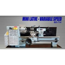 "Jetmac BD-714 0.75HP 7"" x 14"" Variable Speed Mini Lathe Machine"