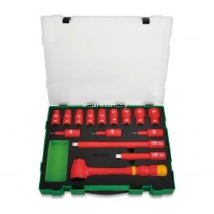 """Toptul GZC1507 15pcs 1/2"""" DR. VDE 6PT Flank Socket Set"""