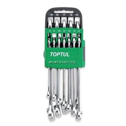 TOPTUL GSAX1401 15° Offset Hi-Performance Combination Wrench Set - STORAGE RACK - METRIC