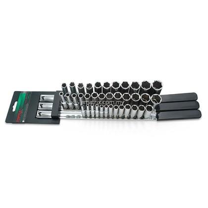 """Toptul GAAQ3703 37PCS 1/4"""", 3/8"""" & 1/2"""" DR. 6PT Deep Socket Rail Set"""
