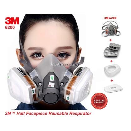 3M 6200 Half Facepiece Reusable Mask Respirator Set