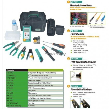 ProsKit PK-9456 FTTH Fiber Optic Tool Kit