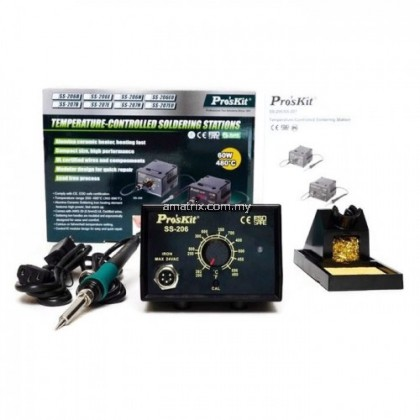 ProsKit SS-206B Temperature Controlled Soldering Station with 5SI-216N-B Solder Tip