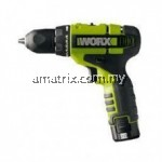 Worx WU128.2 10MM DRILL DRIVER 12V LI-ION Warranty:12 Months with 2 pcs 1.5 Ah battery