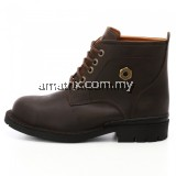 Full Leather Mid cut Lace up Safety Shoes