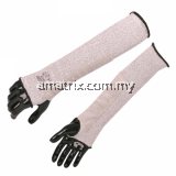 ST58122A Cut Resistant Sleeve With Leather Protection